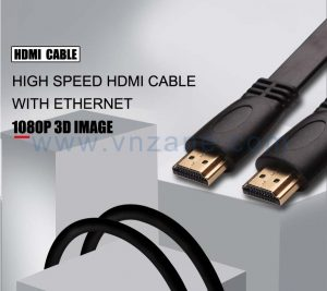 vnzane black HDMI cord for connection of diverse devices