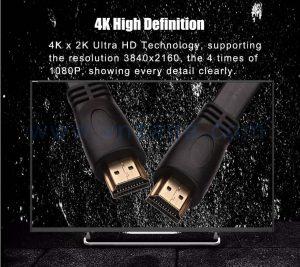 vnzane black HDMI cord in bulk for safe and fast data transmission