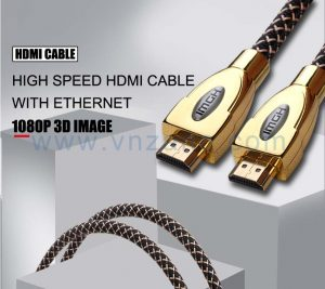 high speed HDMI cable in color of golden yellow from vnzane