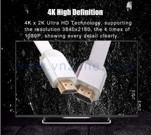 vnzane flat HDMI cable in bulk for interference-free data transmission