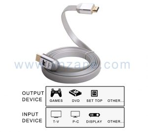 vnzane flat HDMI cable as fast as electronics snake