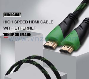 green head jacket hdmi high speed cable