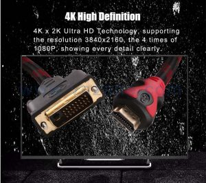 4K definition HDMI to DVI adapter cable from vnzane