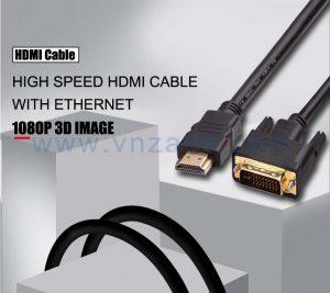 vnzane black HDMI to DVI cable at any length