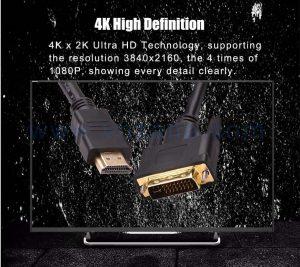 vnzane black HDMI to DVI cable in bulk