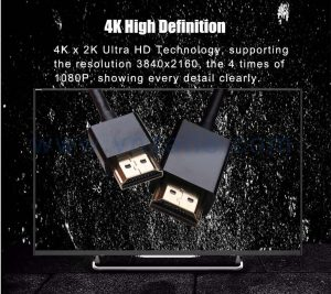 black good-quality HDMI male to male cable with high-speed